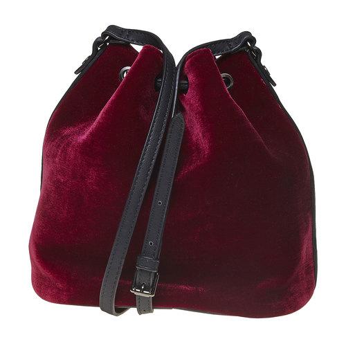 Borsetta in velluto in stile Bucket Bag bata, rosso, 969-5319 - 26