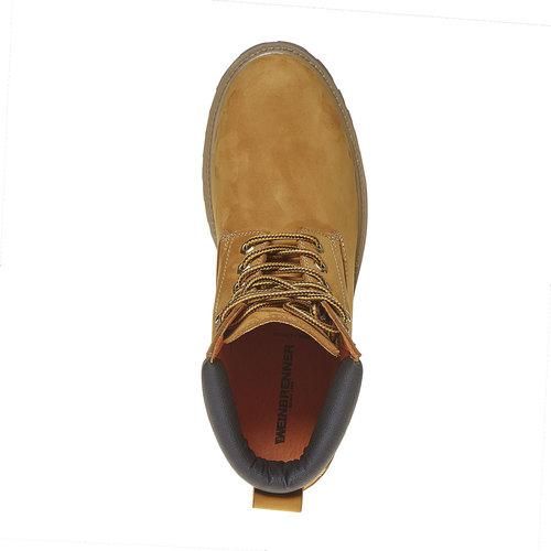 Scarpe invernali da uomo in pelle weinbrenner, giallo, 896-8705 - 19