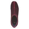 Stivaletti di velluto bordeaux bata, rosso, 799-5643 - 19