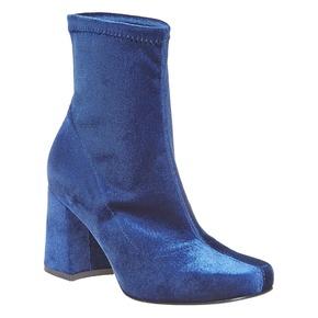 Stivaletti di velluto bata, blu, 799-9643 - 13