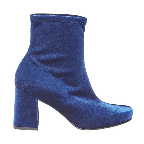 Stivaletti di velluto bata, blu, 799-9643 - 15