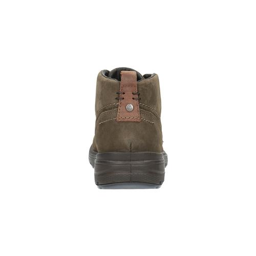 Scarpe di pelle alla caviglia bata, marrone, 896-4226 - 17