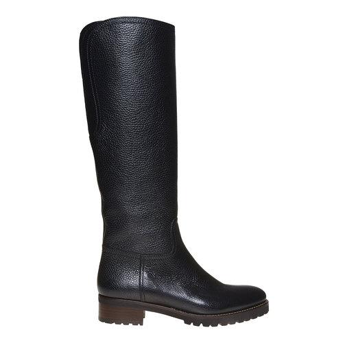 Stivali da donna in pelle bata, nero, 594-6165 - 15