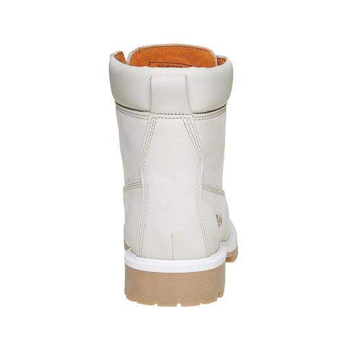 Scarpe in pelle con suola a carro armato weinbrenner, bianco, 596-1546 - 17
