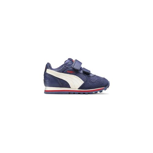 Sneakers di pelle da bambino puma, blu, 103-9182 - 26