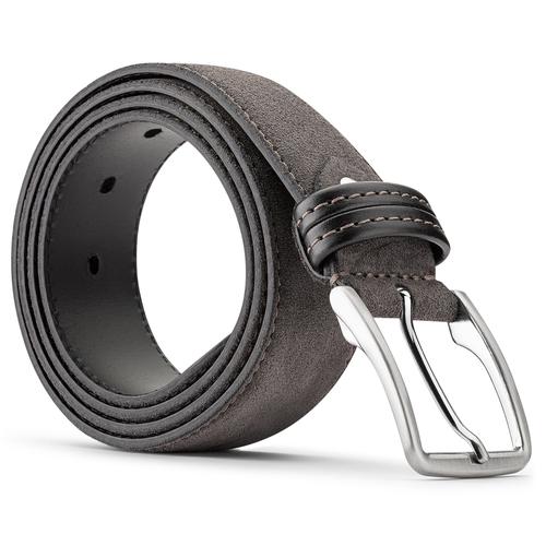 Cintura da uomo in pelle bata, grigio, 953-2807 - 26