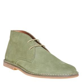 Scarpe di pelle in stile Desert Boots bata, verde, 843-7267 - 13
