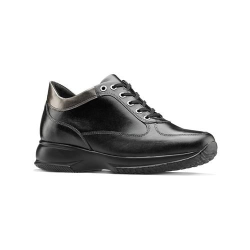 Sneakers informali in pelle bata, nero, 524-6248 - 13