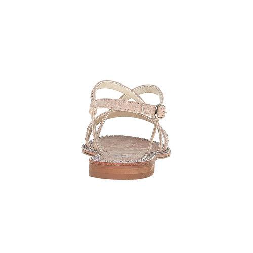 Sandali con strass mini-b, marrone, 369-3169 - 17