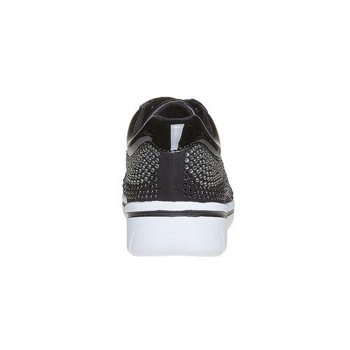 Sneakers da donna con strass, nero, 549-6261 - 17