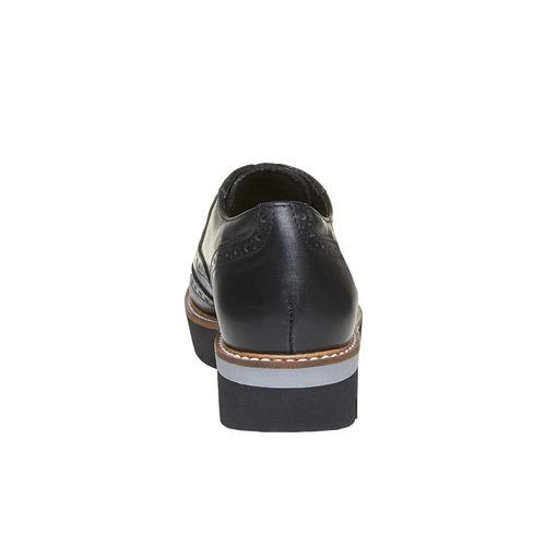 Scarpe basse da donna con plateau bata, nero, 524-6226 - 17