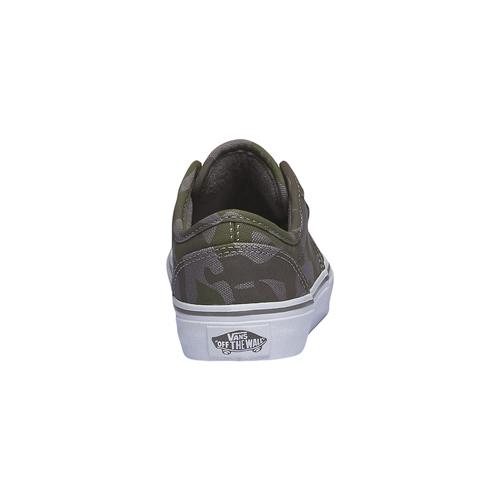 Sneakers da bambino con motivo mimetico vans, verde, 389-7194 - 17