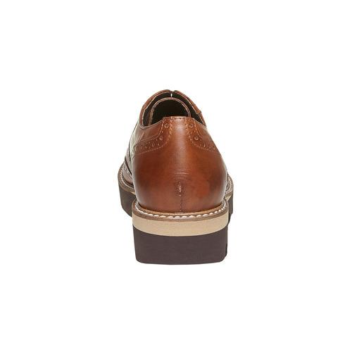 Scarpe basse da donna con plateau alto bata, marrone, 524-3226 - 17
