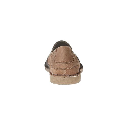 Slip-on da uomo in pelle bata, marrone, 854-4149 - 17