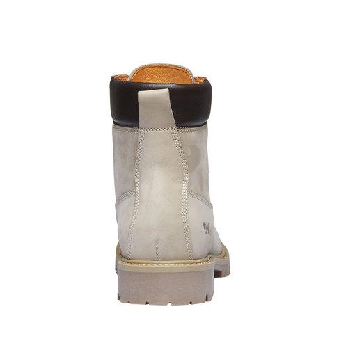 Scarpe in pelle con suola a carro armato weinbrenner, giallo, 596-8546 - 17