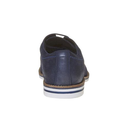 Scarpe basse informali di pelle bata, blu, 826-9642 - 17