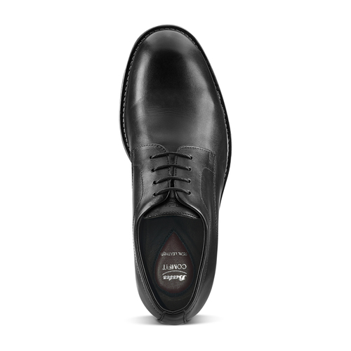 Brogue in pelle Comfort bata-comfit, nero, 824-6938 - 15