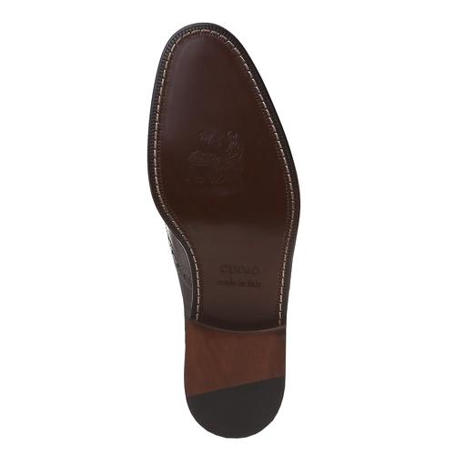 Oxford di pelle bata, marrone, 824-2594 - 18