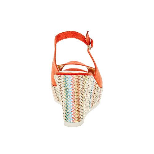 Sandali da donna con plateau bata, rosso, 769-5522 - 17