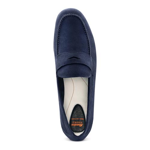 Mocassini in suede flexible, blu, 853-9186 - 17