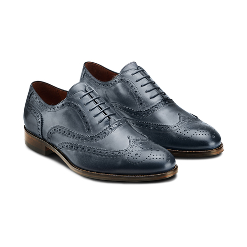 The Shoemaker derby in vera pelle bata-the-shoemaker, blu, 824-9594 - 16