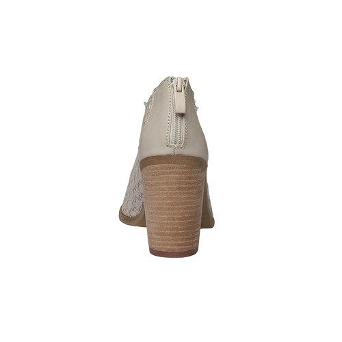 Sandali con punta aperta bata, giallo, 721-8945 - 17
