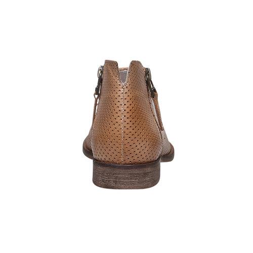 Stivaletti di pelle alla caviglia bata, marrone, 594-3400 - 17