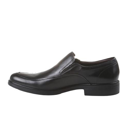 Scarpe basse comode di cuoio bata-comfit, nero, 814-6934 - 15