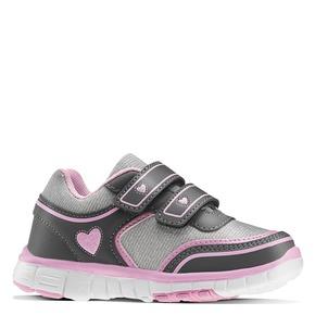 Sneakers da ragazza con chiusure a velcro mini-b, grigio, 229-2175 - 13