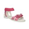 Sandali da ragazza con fiocco mini-b, rosa, 261-5160 - 13