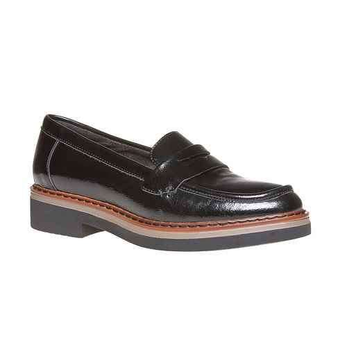 Loafers da donna con suola ampia bata, nero, 511-6239 - 13
