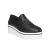 Slip-on da donna con flatform north-star, nero, 519-6141 - 13
