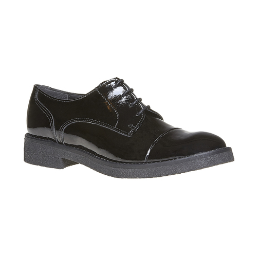 Scarpe basse da donna verniciate bata, nero, 521-6317 - 13