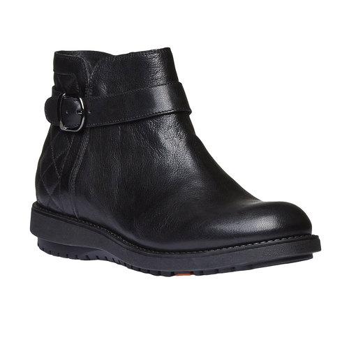 Scarpe alla caviglia con cuciture flexible, nero, 594-6229 - 13