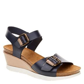 Sandali da donna con strisce weinbrenner, blu, 664-9193 - 13