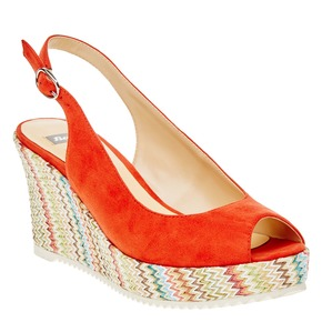 Sandali da donna con plateau bata, rosso, 769-5522 - 13