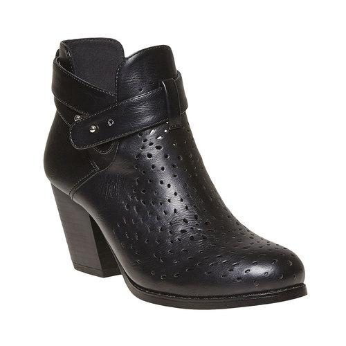 Stivaletti alla caviglia con perforazioni bata, nero, 791-6627 - 13