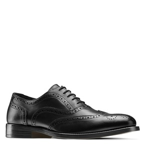 Oxford in pelle bata, nero, 824-6801 - 13