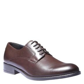 Scarpe basse di pelle in stile Derby bata, marrone, 824-4874 - 13