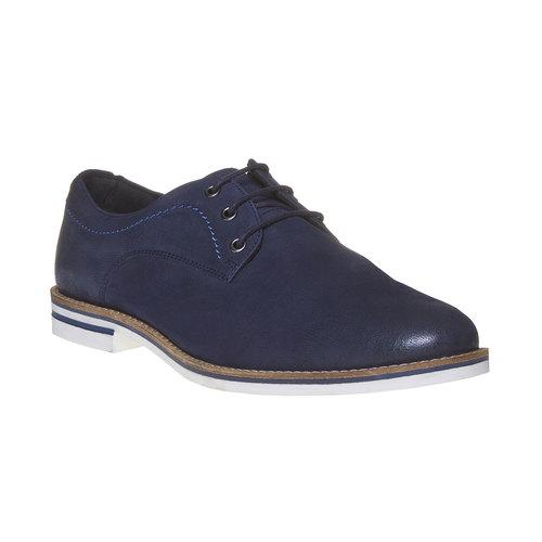 Scarpe basse informali di pelle bata, blu, 826-9642 - 13