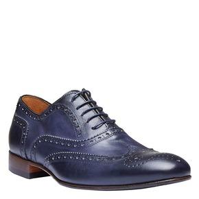 Scarpe basse da uomo in pelle con decorazioni bata-the-shoemaker, viola, 824-9145 - 13