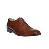 Scarpe basse da uomo in pelle in stile Derby bata-the-shoemaker, marrone, 824-3187 - 13