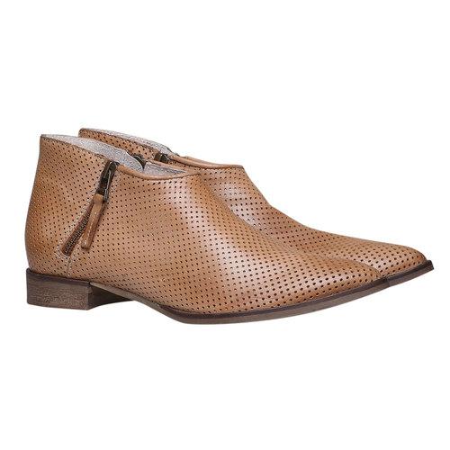 Stivaletti di pelle alla caviglia bata, marrone, 594-3400 - 26
