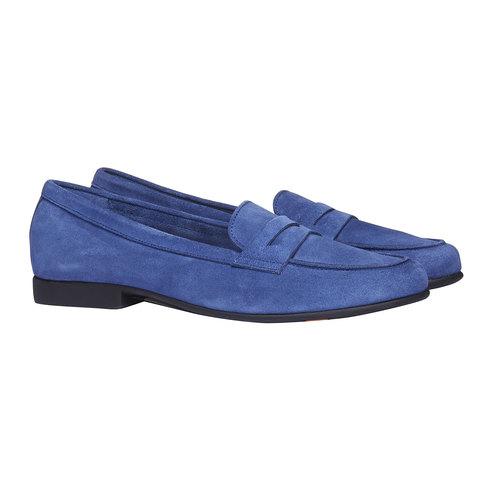 Penny Loafer di pelle flexible, blu, 513-9196 - 26