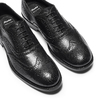Oxford in pelle bata, nero, 824-6801 - 26