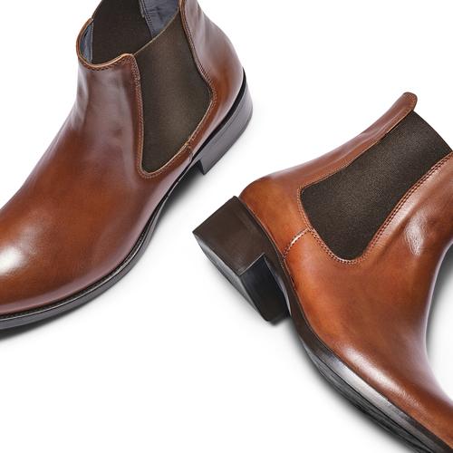 Scarpe di pelle in stile Chelsea bata, marrone, 594-4448 - 26
