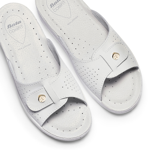 Slip-on da donna in pelle bata-comfit, bianco, 574-1250 - 26