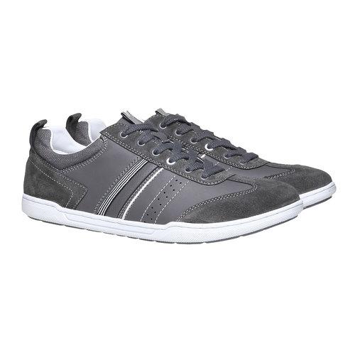 Sneakers informali da uomo bata, grigio, 841-2633 - 26