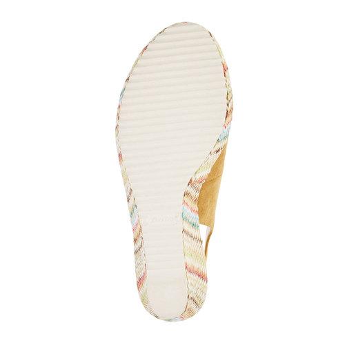 Sandali da donna con lati chiusi bata, beige, 769-8522 - 26