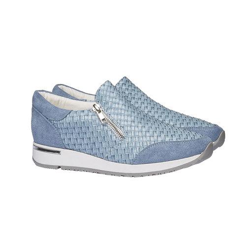 Sneakers dal design intrecciato north-star, viola, 531-9114 - 26
